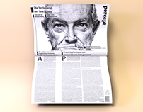 Percept – Editorial Design for an ambitious newspaper