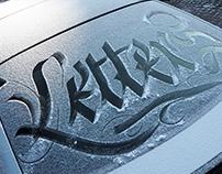 Frozen calligraphy