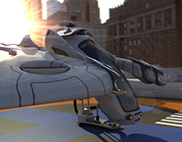 Flying Vehicle 3D Animation