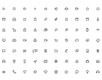 Free 100 Minimal Rounded Icons Sketch App Resource