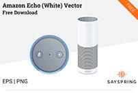 Amazon Echo Vector (White) Free Download