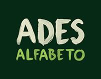 Jwt | Ades | Alfabeto | Watercolor type