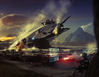 SKYFALL Matte Painting
