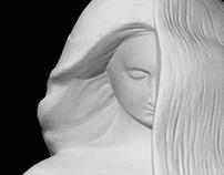 """sculpture """"Goddess Moira: beginning of life"""""""