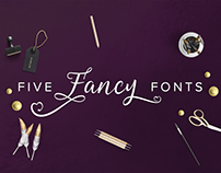 Five Fancy Fonts to Enhance Your Designs