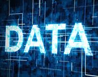 Futuristic Data Typography 4K