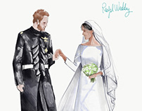 Royal wedding illustrations