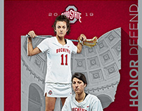 Ohio State Buckeyes Lacrosse Schedule Poster