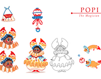 Popi, Dia, and Rouge Designs