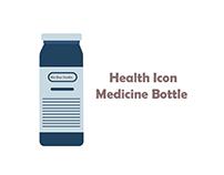 bix box studio - Blue Medicine Bottle icon health