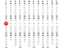 MNML Calendar 2017
