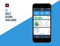 Adobe XD Creative Challenge #01 | Personal Finance App