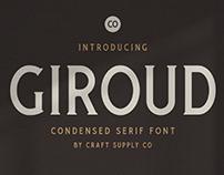 FREE | Giroud Condensed Serif