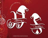 Diary Santa Monogram Font