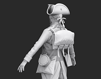 3D model | 18th century soldier