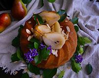 Pastel de Frutas Pochadas