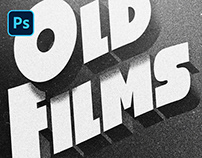 [PSD] OLD MOVIE TITLE STYLE