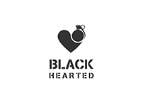 Black Hearted Logo Design