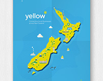 Illustration: New Zealand Map and Nature