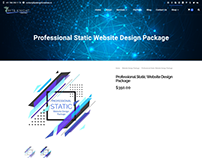 Professional Static Web Design Package ($349/year)