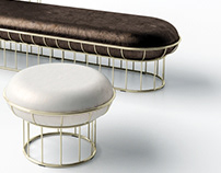 ElegantPouf & Bench family: Mushroom