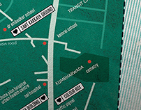 Map and Events Calendar for the Alley Galli Biennale