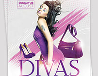 Divas International Flyer Template