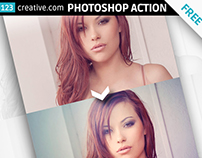 FREE Cold lights - Photoshop action