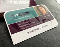 Various business card and logo designs.