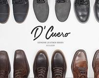Zapatos D´ Cuero, Logo, tarjetas y fotografía.