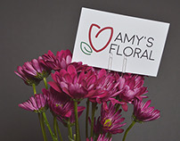 Amy's Floral Logo and Mock Up
