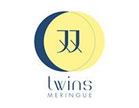 twin meringue branding
