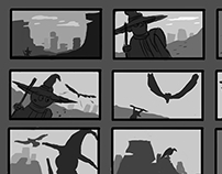 Composition/Storyboard studies.