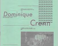 Dominique Crenn - projet d'édition