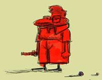character design - 'Domande da porci'