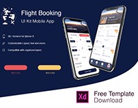 Flight Booking App (FreeXD - PSD)