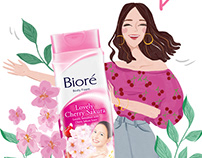 Biore Lovely Cherry Sakura