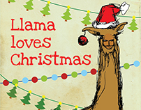 Llama In The Room greeting cards