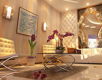 design and rendering of living room