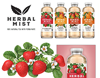 Illustrations for Redesigned Herbal Mist Tea Packaging