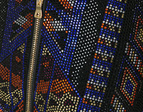 """Inca"" Rhinestone Pattern Design - BALMAIN SS 17"