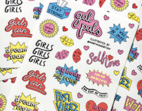 Gal Pal IRL stickers
