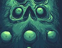 Poster/Tshirt - Beard Eyes Skull