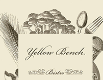 Yellow Bench - card design