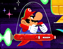 """Space Race"" Mario Kart"