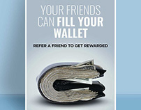 Refer Friend Branding Poster Design