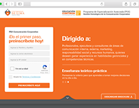 Landing PEA Comunicación Corporativa - Universidad de L