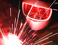 Full-window web for welding company