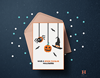 Halloween card illustrations