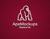 Free 3D Logo Text Mockup